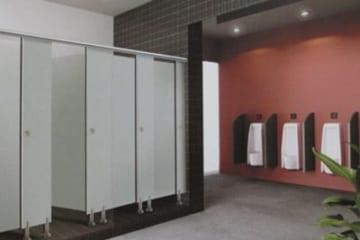 Thi công vách ngăn vệ sinh cho Công an Hà Tĩnh