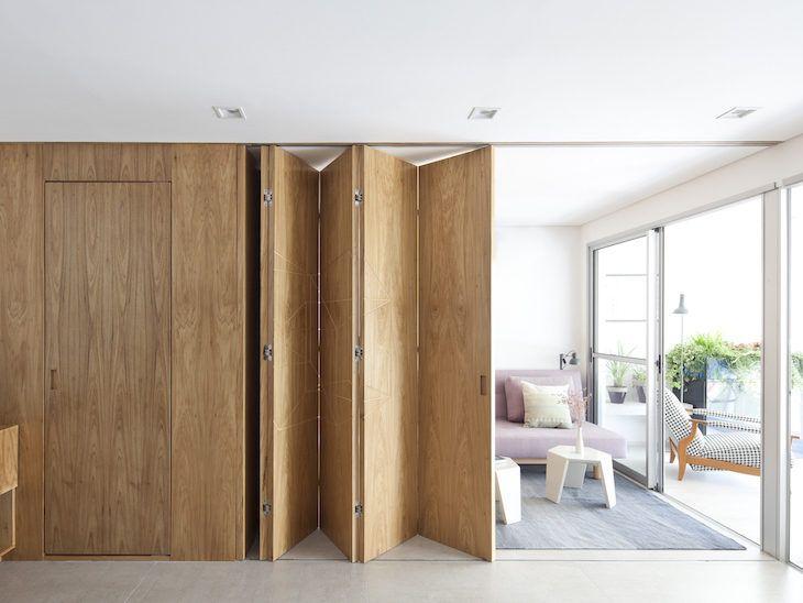 vách ngăn di động bằng gỗ veneer