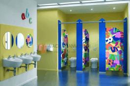 Cấu tạo và ứng dụng của tấm vách ngăn phòng vệ sinh Compact